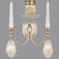 Fine Art Lamps 867650-22ST Quartz and Iron Florentine Gold LED Lamp Sconce