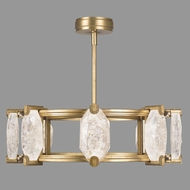 Fine Art Lamps 872840-2ST Allison Paladino Contemporary Gold Leaf LED Chandelier Lamp
