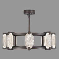 Fine Art Lamps 872840-3ST Allison Paladino Modern Patinated Bronze LED Chandelier Light