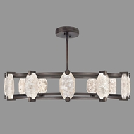 Fine Art Lamps 872940-3ST Allison Paladino Contemporary Patinated Bronze LED Chandelier Light