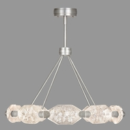 Fine Art Lamps 873040-1ST Allison Paladino Modern Silver Leaf LED Chandelier Lighting