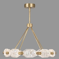Fine Art Lamps 873040-2ST Allison Paladino Contemporary Gold Leaf LED Lighting Chandelier