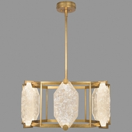 Fine Art Lamps 875640-21ST Allison Paladino Contemporary Gold Leaf LED Hanging Light Fixture