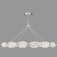 Fine Art Lamps 876140-11ST Allison Paladino Modern Prussian Silver Gray LED Drop Ceiling Light Fixture