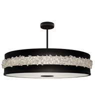 Fine Art Lamps 876240-2ST Arctic Halo Matte Black Lighting Pendant