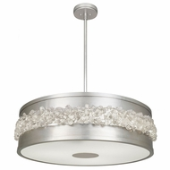 Fine Art Lamps 876340ST Arctic Halo Silver Leaf Pendant Light Fixture