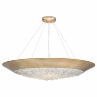 Fine Art Lamps 876440-1ST Arctic Halo Champagne Tinted Gold Leaf Pendant Lighting Fixture