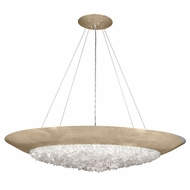 Fine Art Lamps 876540-1ST Arctic Halo Champagne Tinted Gold Leaf Pendant Hanging Light