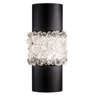 Fine Art Lamps 876650-2ST Arctic Halo Matte Black Wall Sconce