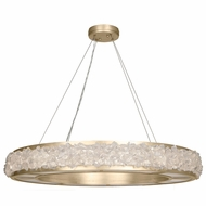 Fine Art Lamps 878040-1ST Arctic Halo Champagne Tinted Gold Leaf Drop Ceiling Lighting