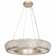 Fine Art Lamps 878140-1ST Arctic Halo Champagne Tinted Gold Leaf Drop Ceiling Light Fixture