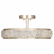 Fine Art Lamps 879940-1ST Arctic Halo Champagne Tinted Gold Leaf Ceiling Light Fixture
