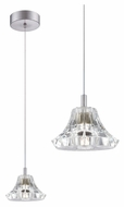 Philips FA0013836 Liz Clear Crystal 5 Inch Diameter Mini Lighting Pendant