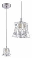 Philips FA0015836 Liz 3 Inch Diameter Clear Crystal Mini Hanging Light - LED