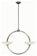 Fredrick Ramond 40754BNI Method Contemporary Brushed Nickel Finish 33.75  Wide Chandelier Lighting