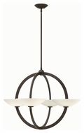 Fredrick Ramond 40756VBZ Method Modern Vintage Bronze Finish 25.75  Tall Chandelier Light