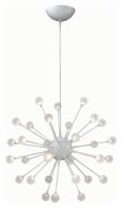 Fredrick Ramond 44413CLD Impulse Contemporary Cloud Finish 24  Wide LED Lighting Chandelier