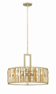 Fredrick Ramond FR33735SLF Gemma Silver Leaf Drum Hanging Pendant Lighting