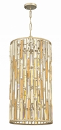Fredrick Ramond FR33736SLF Gemma Silver Leaf Drum Pendant Hanging Light