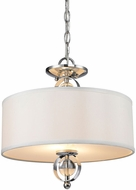 Golden Lighting 1030-SF-CH Cerchi Chrome Drum Pendant Light / Ceiling Lighting