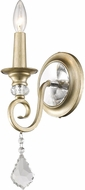 Golden Lighting 1323-1W-WG Ella White Gold Lighting Sconce
