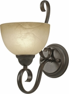 Golden Lighting 1567-1W-PC Riverton Peppercorn Wall Sconce Lighting