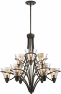 Golden Lighting 1648-9-BUS Olympia Contemporary Burnt Sienna Chandelier Light