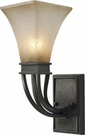 Golden Lighting 1850-1W-RT Genesis Roan Timber Wall Sconce Lighting