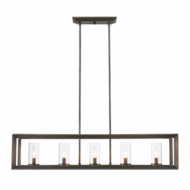 Golden Lighting 2073-LP-GMT Smyth Contemporary Gunmetal Bronze Kitchen Island Light