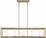 Golden Lighting 2073-LP-WG Smyth Contemporary White Gold Kitchen Island Light Fixture