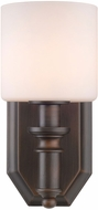 Golden Lighting 2116-BA1-RBZ-OP Beckford Rubbed Bronze Lamp Sconce