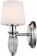 Golden Lighting 2117-BA1-CH-OP Vanna Chrome Wall Sconce Lighting