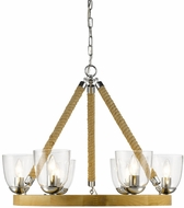 Golden Lighting 3086-6-CH Harland Contemporary Chrome Lighting Chandelier