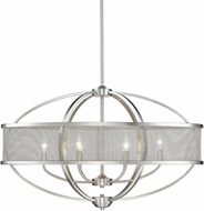 Golden Lighting 3167-LP-PW-PW Colson PW Modern Pewter Kitchen Island Light Fixture (with shade)