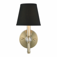 Golden Lighting 3500-1W-AB-GRM Waverly Aged Brass Wall Light Sconce