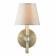 Golden Lighting 3500-1W-AB-PMT Waverly Aged Brass Wall Lighting Fixture