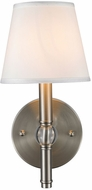 Golden Lighting 3500-1W-PW-CWH Waverly Pewter Wall Light Sconce