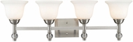 Golden Lighting 3500-BA4-PW Waverly Pewter 4-Light Bathroom Wall Sconce