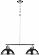 Golden Lighting 3602-2LP-CH-CH Duncan Modern Chrome 2-Light Island Light Fixture