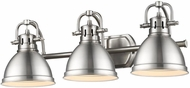 Golden Lighting 3602-BA3-PW-PW Duncan Contemporary Pewter 3-Light Bath Lighting