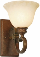 Golden Lighting 3711-1W-CB Rockefeller Champagne Bronze Wall Lighting Sconce