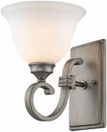 Golden Lighting 3711-1W-PS Rockefeller Peruvian Silver Wall Sconce Lighting