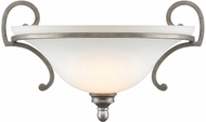 Golden Lighting 3711-WSC-PS Rockefeller Peruvian Silver Wall Light Sconce