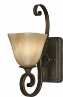 Golden Lighting 3890-1W-GB Meridian Golden Bronze Wall Lighting Fixture