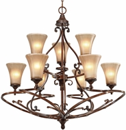 Golden Lighting 4002-9-RSB Loretto Contemporary Russet Bronze Ceiling Chandelier