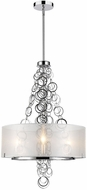 Golden Lighting 5050-3-CH Danica Modern Chrome Drum Pendant Light Fixture