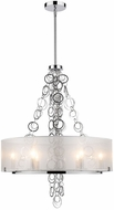 Golden Lighting 5050-6-CH Danica Modern Chrome Drum Hanging Pendant Lighting