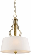 Golden Lighting 5140-3P-LG Hayworth Modern Luxe Gold Drum Hanging Light Fixture
