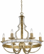Golden Lighting 5140-6-LG Hayworth Contemporary Luxe Gold Hanging Chandelier