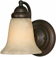 Golden Lighting 5222-1-RBZ-TEA Centennial Rubbed Bronze Wall Lamp